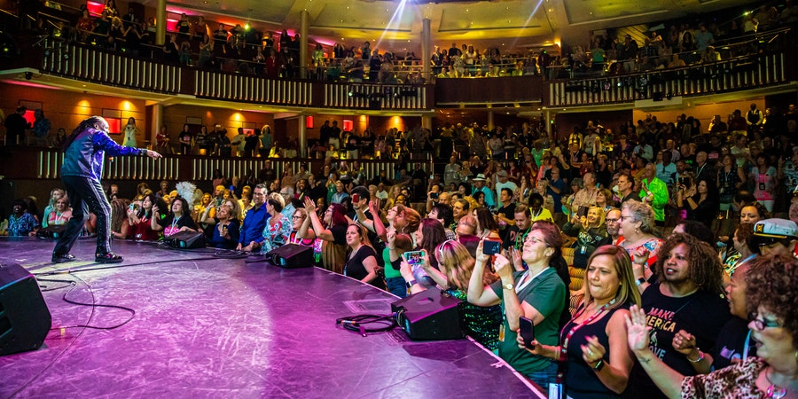 The Commodores in the Celebrity Theater (Photo: Ultimate Disco Cruise)