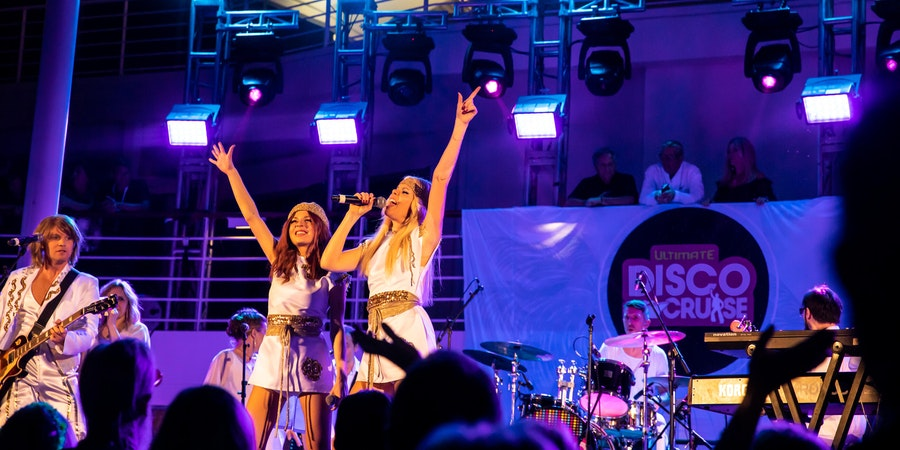 ABBA tribute band on the Ultimate Disco Cruise (Photo: Ultimate Disco Cruise)