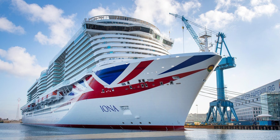 P&O Cruises' Iona Leaves Shipyard in Germany Ready for Sea Trials