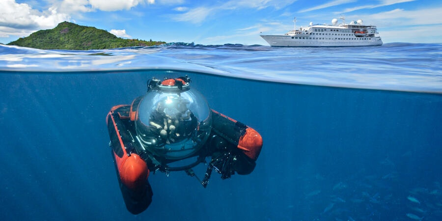 Crystal Esprit's submarine (Photo: Crystal Cruises)
