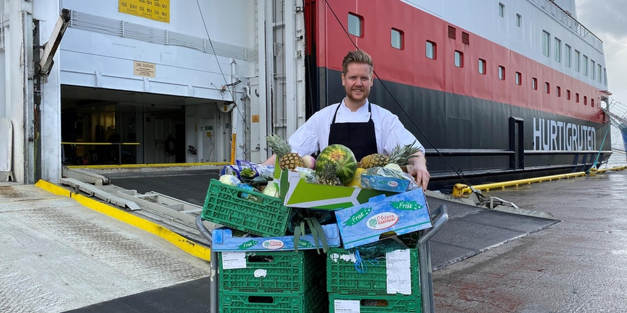 Hurtigruten is donating food to local charities in support of COVID-19 relief efforts (Photo: Hurtigruten)