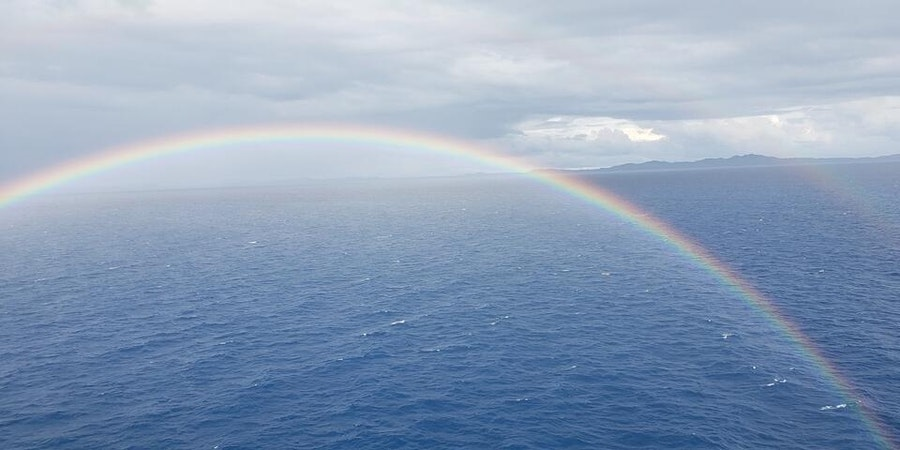 Rainbow, as seen from the Mini-Suite Balcony on Norwegian Getaway (Photo: JPat1616/Cruise Critic member)