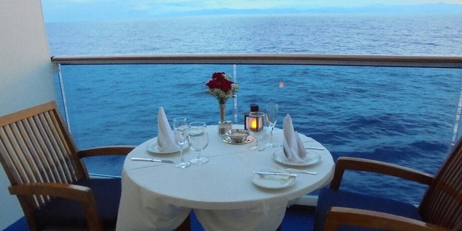 Ultimate Balcony Dinner experience on Coral Princess (Photo: Cruise-Crazzy/Cruise Critic member)