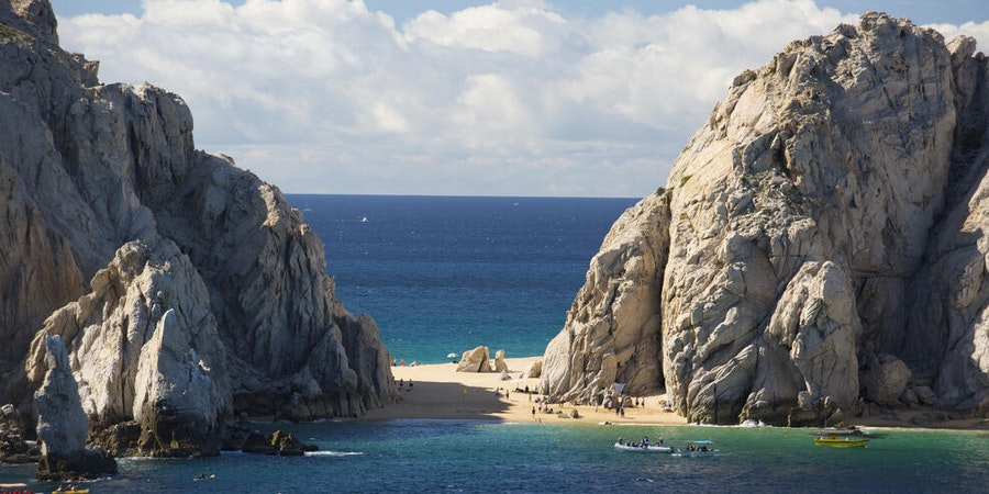 View of Lovers Beach in Cabo San Lucas from Norwegian Jewel (Photo: kidsncats/Cruise Critic member)