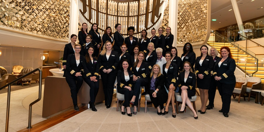 Weaving 'Herstory': Q&A With the History-Making International Women's Day Cruise's Female Officers on Celebrity Edge