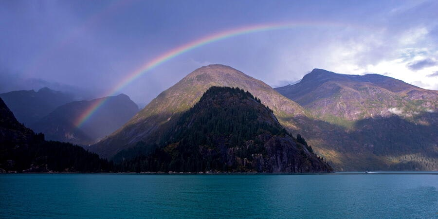Rainbow over Tracy Arm Fjord (Photo: Tiger Cruiser Too/Cruise Critic member)