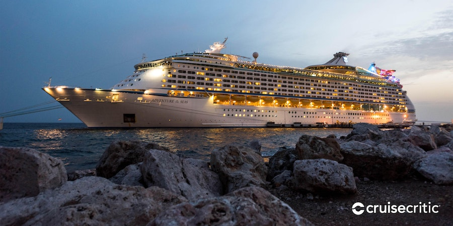 Adventure of the Seas in port (Photo: Cruise Critic)