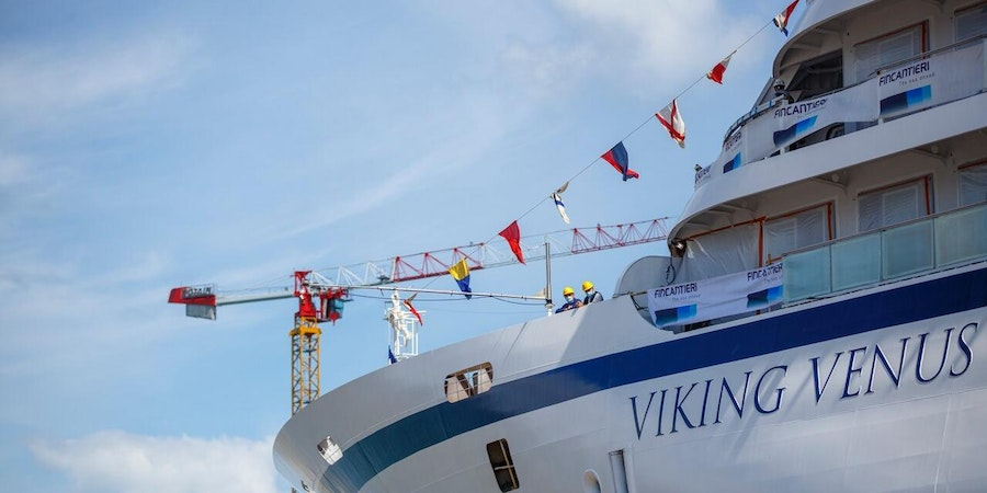 Viking Venus at Italy's Fincantieri shipyard (Photo: Finantieri)
