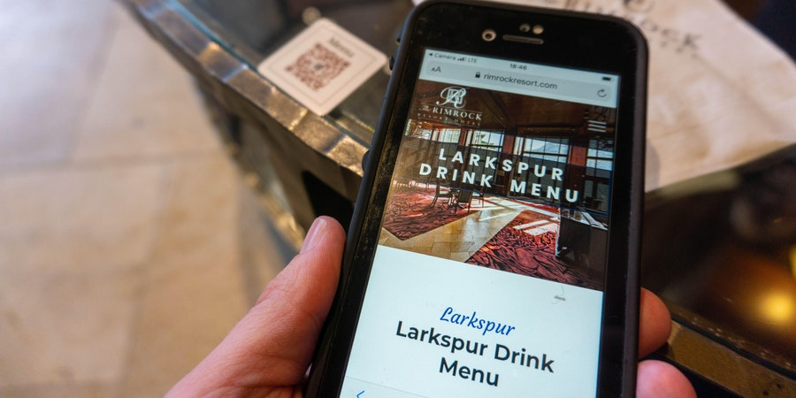 Digital drink menu at The Rimrock Resort Hotel (Photo: Aaron Saunders/Cruise Critic)