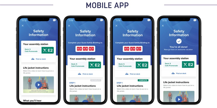 E-Muster, Keyless Cabin Check-in and More: Royal Caribbean Group Announces Smartphone App Improvements