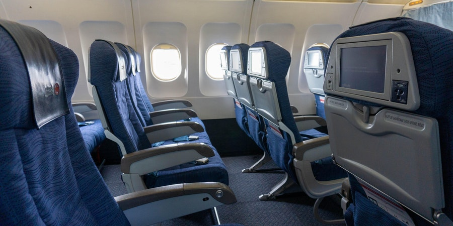 Empty Air Canada A320 Airbus (Photo: Aaron Saunders/Cruise Critic)