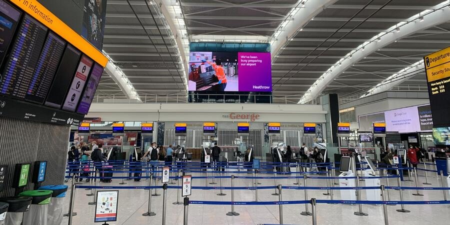 London's Heathrow Airport (Photo: Adam Coulter/Cruise Critic)