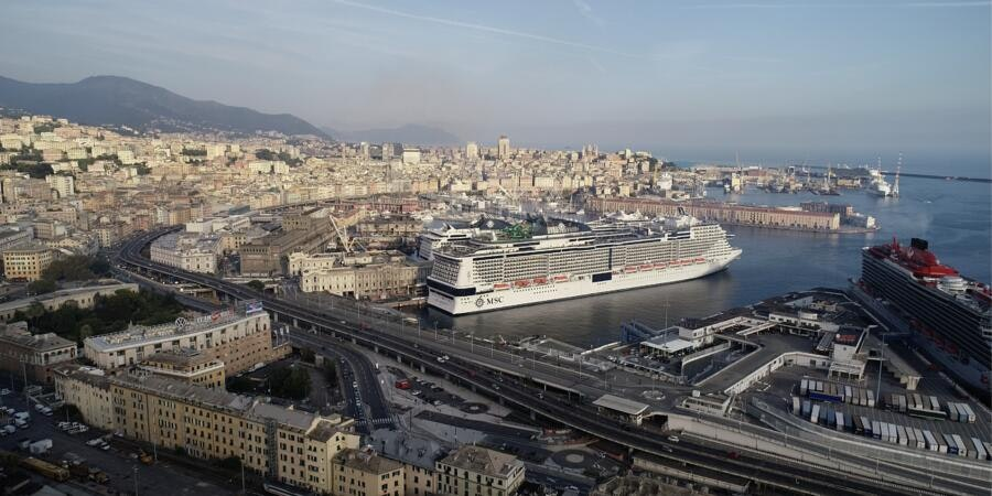 MSC Grandiosa in Genoa (Photo: MSC Cruises)