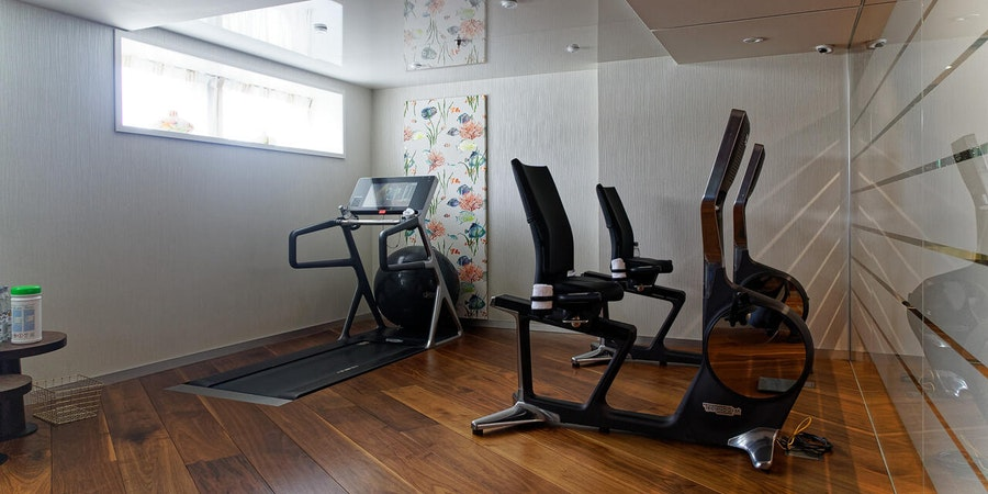 Fitness Studio on AmaKristina (Photo: Franz Neumeier/Cruise Critic Contributor)