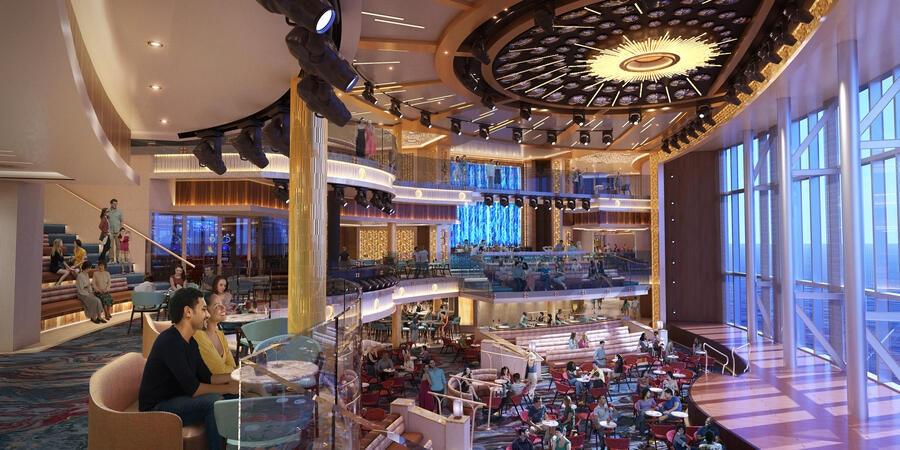 Carnival Cruise Line Debuts New Grand Central Atrium Concept Onboard Mardi Gras