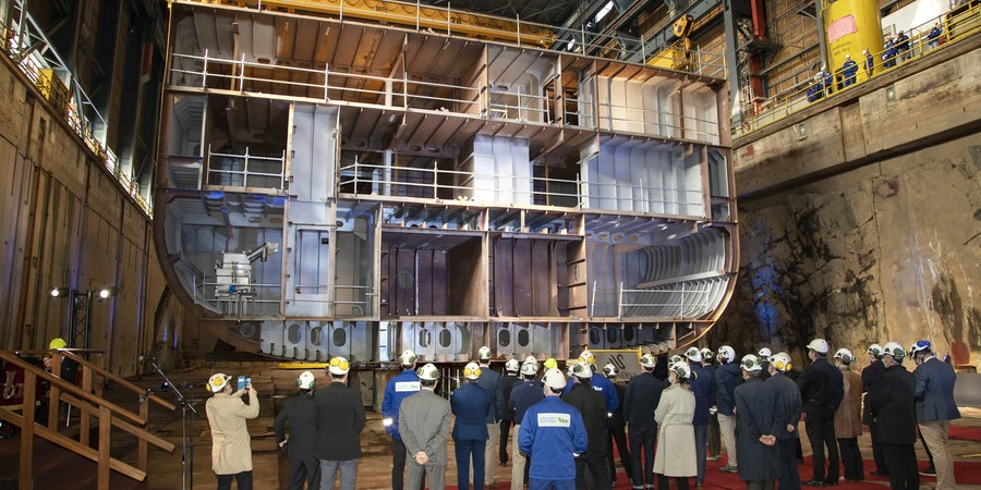 S H  Minerva keel laying ceremony