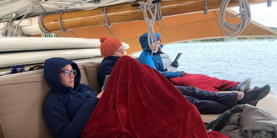 Passengers relaxing onboard Stephen Taber (Photo: Chris Gray Faust/Cruise Critic)