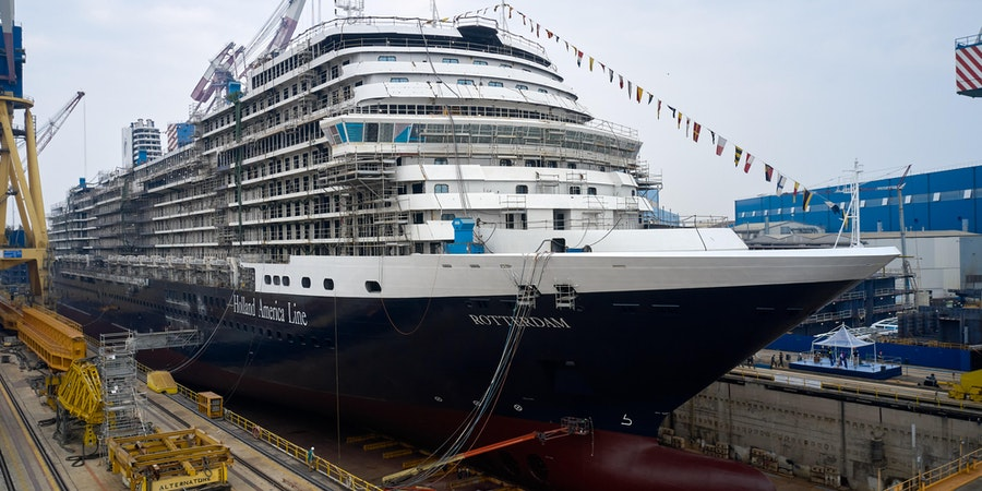 Holland America Line's New Cruise Ship Rotterdam Coin Ceremony Ahead of Float Out
