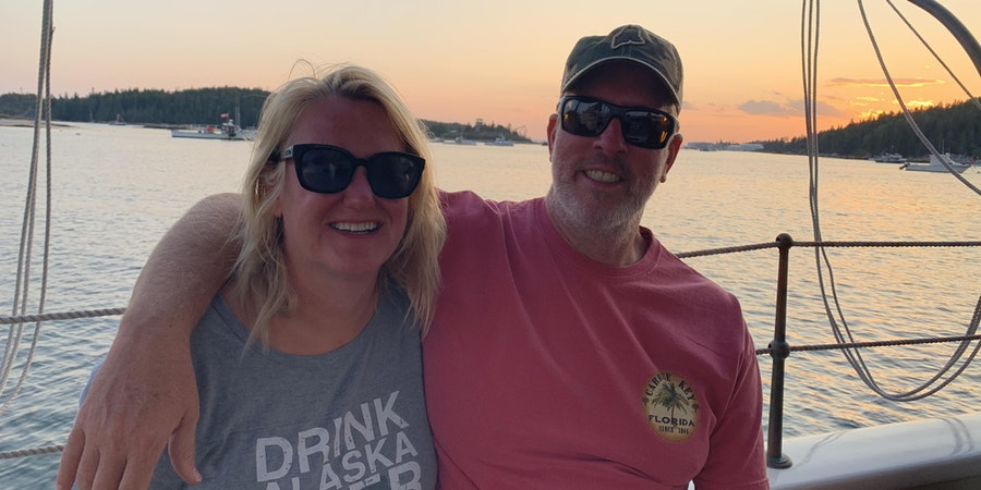 Chris Gray Faust and her husband, Don, in Maine (Photo: Georgette Diamandis)
