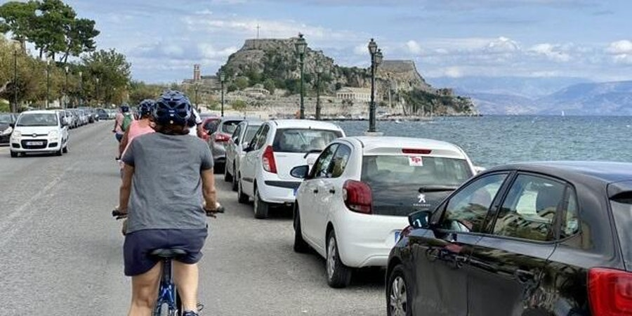 Passengers on an e-bike excursion in Corfu (Photo: Miaminice/Cruise Critic member)