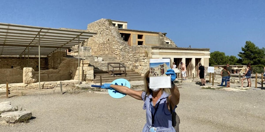 Palace of Knossos during a transfer tour of Crete (Photo: Miaminice/Cruise Critic member)