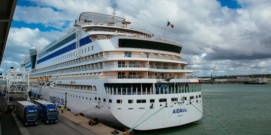 AIDAblu in Civitavecchia (Photo: AIDA)