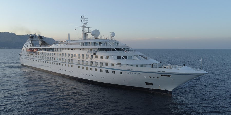 Windstar Cruises Takes Delivery of Stretched Star Breeze from Shipyard
