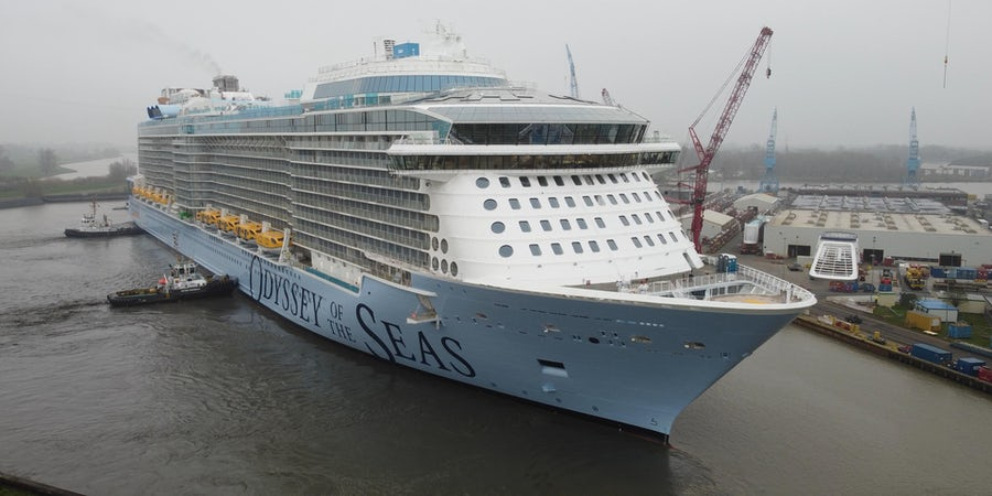 Royal Caribbean Floats Out Newest Cruise Ship Odyssey of the Seas