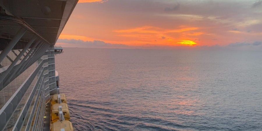Sunset seen from Quantum of the Seas (Photo: masteradept/Cruise Critic member)