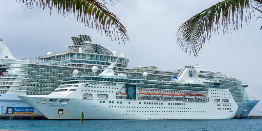 Empress of the Seas and Harmony of the Seas in the Caribbean (Photo: Aaron Saunders/Cruise Critic)