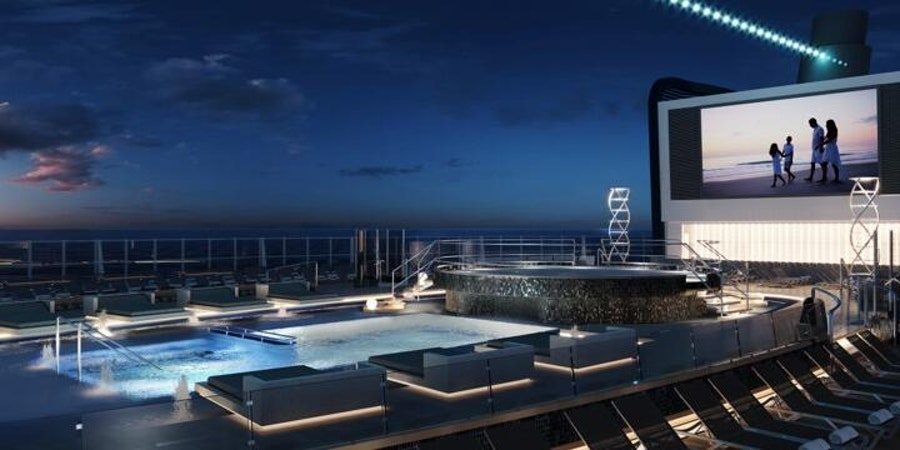 Long Island Pool Deck on MSC Seashore (Image: MSC Cruises)