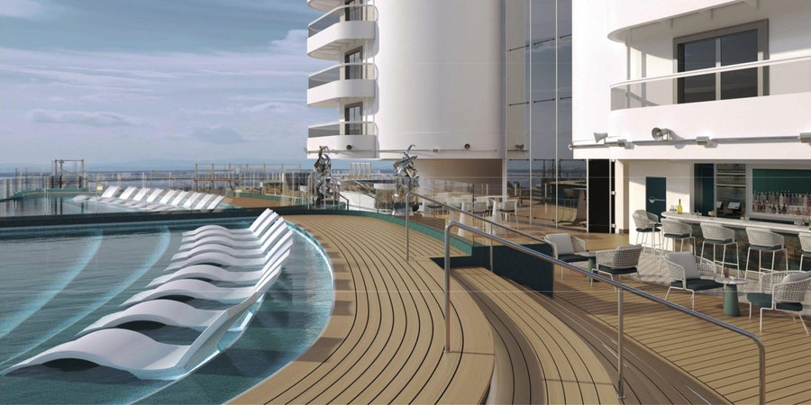 The Infinity Pool on MSC Seashore (Image: MSC Cruises)