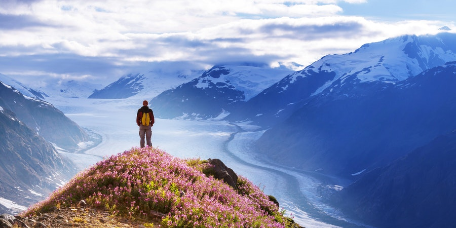 Hiking Spot in Salmon Glacier, Alaska (Photo: Galyna Andrushko/Shutterstock)