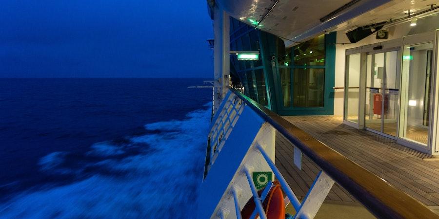 Seerenade of the  Seas at  Night ( Photo by  Aaron  Saunders)