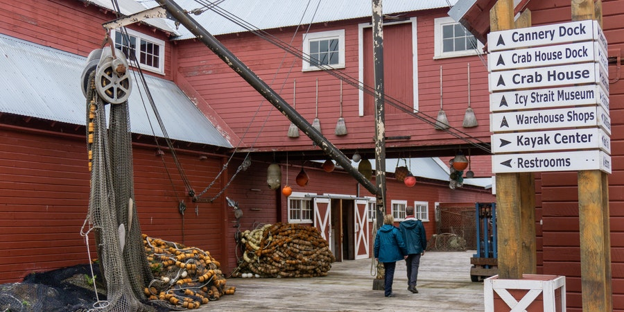 The former cannery at Icy Strait Point now houses a museum and shops. (Photo: Aaron Saunders)