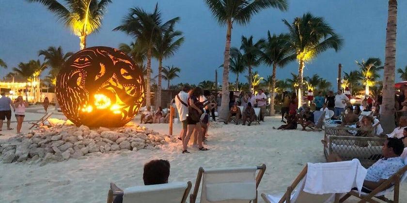 Bonfire at  Bimini  Beach  Club