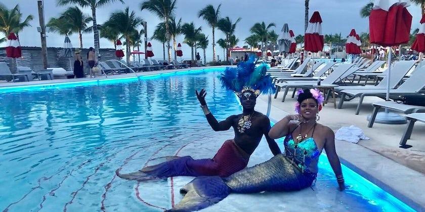 Mermaids at  Bimini  Beach  Club