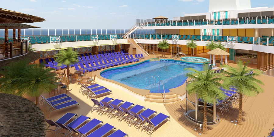 Beach Pool on Carnival Mardi Gras (Image: Carnival Cruise Line)