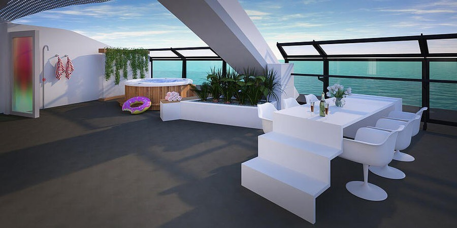 Scarlet Lady's Balcony Cabin (Photo: Virgin Voyages)