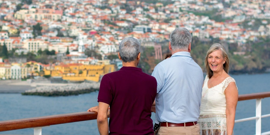 Friends Enjoying the Scenery on Board Cruise (Photo: Fred Olsen Cruises)