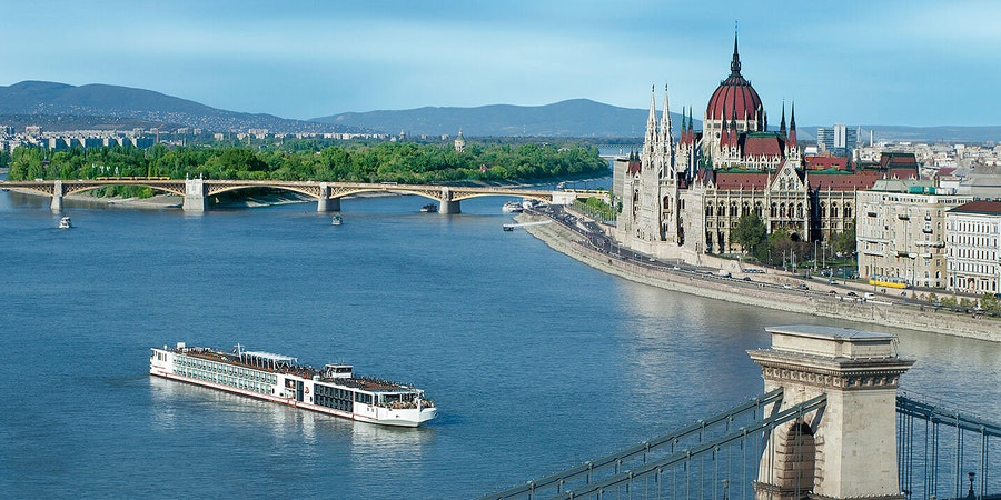 Viking Tialfi Near The Hungarian Parliament (Photo: Viking River Cruises)