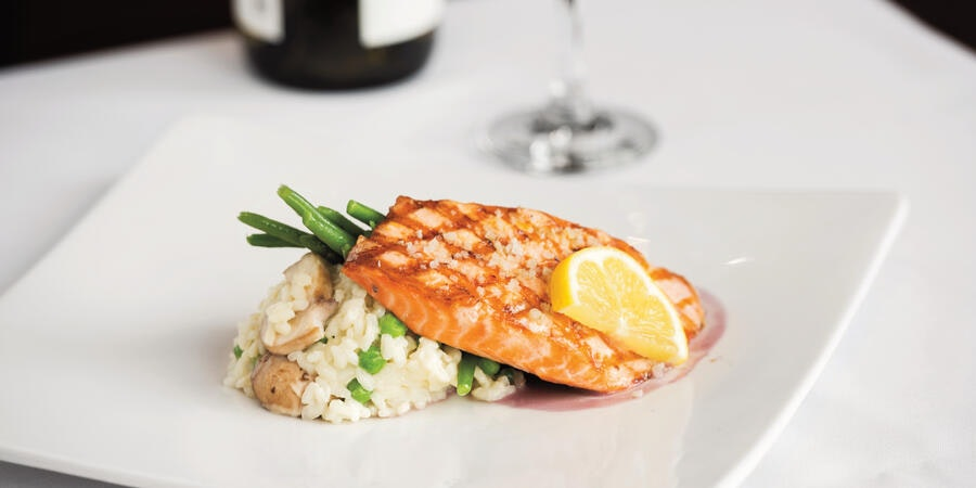 Sea Salt Accented King Salmon from the King Salmon Restaurant in Denai Wilderness Lodge (Photo: Princess Cruises)