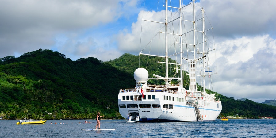 Windstar's Water Sports Platform on Wind Spirit in Tahiti