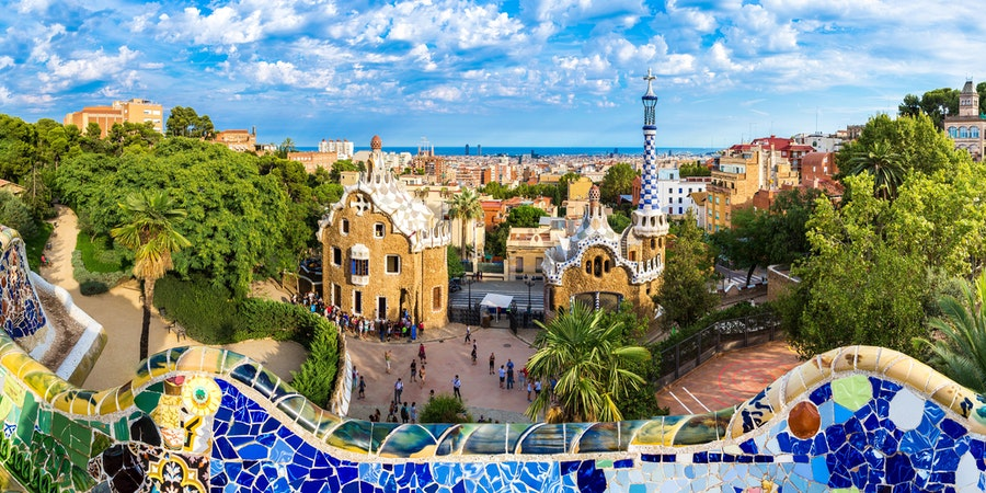 Park Guell by architect Gaudi in a summer day in Barcelona, Spain. (Photo: S-F/Shutterstock) (Photo:Kanuman/Shutterstock)