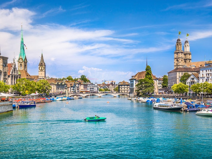 Historic City Center in Zurich, Switzerland (Photo: canadastock/Shutterstock)