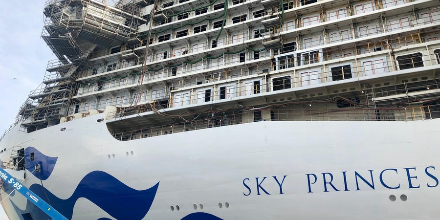 Sky Princess at the Fincantieri shipyard in Monfalcone, Italy (Photo: Chris Gray Faust)