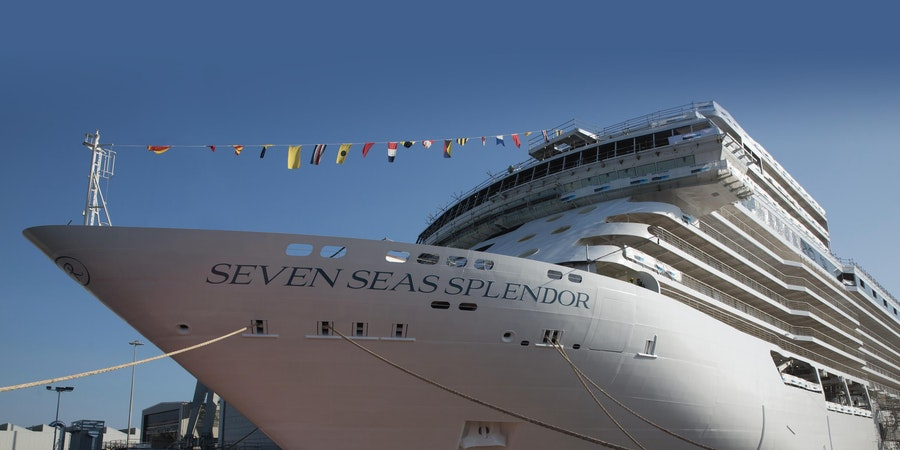 New Regent Seven Seas Cruise Ship Floats Out During Shipyard Ceremony