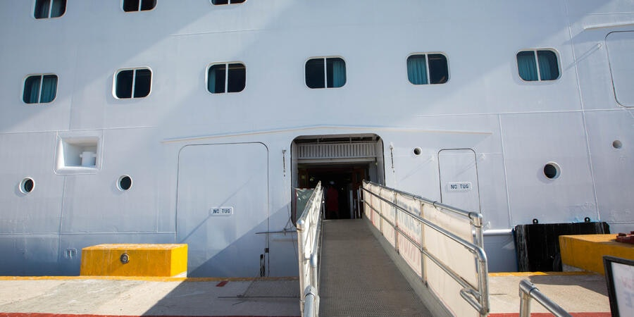 Boarding Area on Carnival Triumph