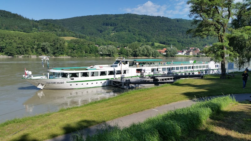Victor Hugo moored on the Danube River