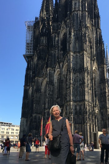 The cathedral in Cologne, Germany is amazing, and it is near the river.